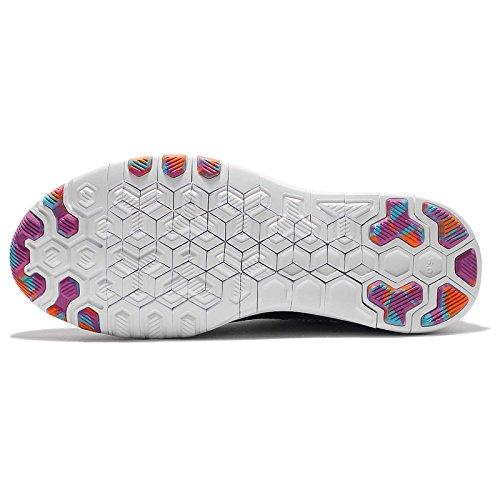 Nike Wmns Free TR Flyknit, Zapatillas de Gimnasia para Mujer, Blanco (White / Black-Pr Pltnm-Hypr Vlt), 43/44 EU