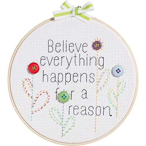 My 1st Stitch Believe Everything Happens Mini Counted Cross