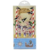 Lolipapa Cool Pirate Cake Bunting Banner Topper Kit for Kids Birthday Party, Baby Shower, Cake Decoration