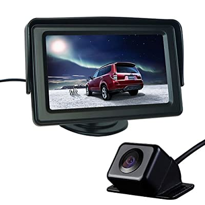 "Generic Car Rear View Kit 4.3"" TFT LCD Monitor + Car Reversing Camera 170 Degree Angle from The Rear View Camera Center"