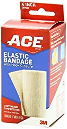 ACE Elastic Bandage with Hook Closure, 4 Inches (Pack of 3)