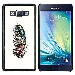 Arte Pintura Dibujo Lápiz- Metal de aluminio y de plástico duro Caja del teléfono - Negro - Samsung Galaxy A5 / SM-A500