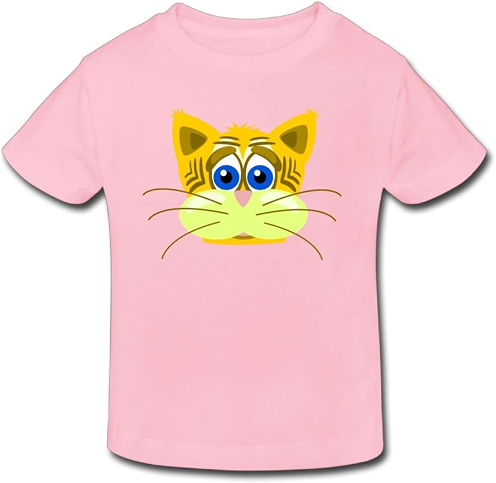 Wiongh Opp Cotton Short-Sleeves T Shirts Cute Tiger Head Childrens//Kid For Unisex