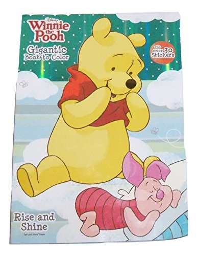 Disney Winnie the Pooh Foil Cover Gigantic Book to Color with Over 30 Stickers ~ Rise and Shine (225 Pages, 2014)