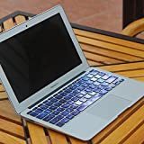 Bfun Blue Dawn Silicone MacBook Pro Keyboard Decal Keyboard Skins Keyboard Sticker Decoration for MacBook Pro 13 15 Inch