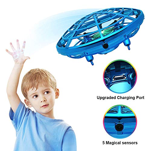 Hand Operated Drone for Kids, Hand Scoot Drone, Flying Ball Drone, with 5 Upgraded Interactive Sensors, 360 Degree Rotating Indoor Drone for Kids, UFO Toy For Boys and Girls. from Dearhop