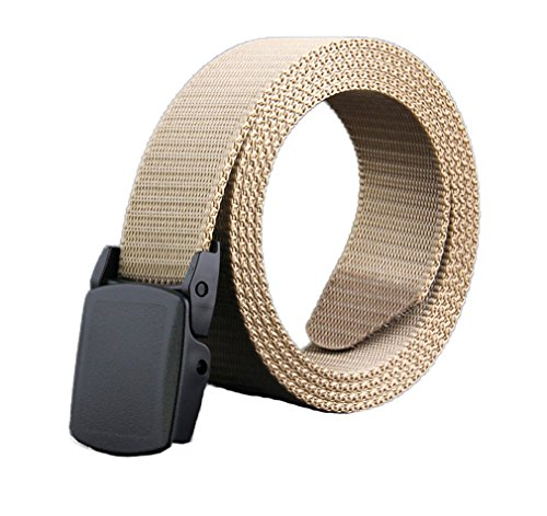 [Soojun Men's Adjustable Military Style Web Buckle Belt 45
