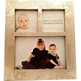 Silver Leaf 3 Picture Collage Picture Frame