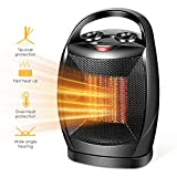 Space Heater-1500W Fast Heat Small Ceramic Space Heater for Office Small Room Desk, Overheat & Tip-Over Protection, Energy Efficient Space Heater for Indoor Use
