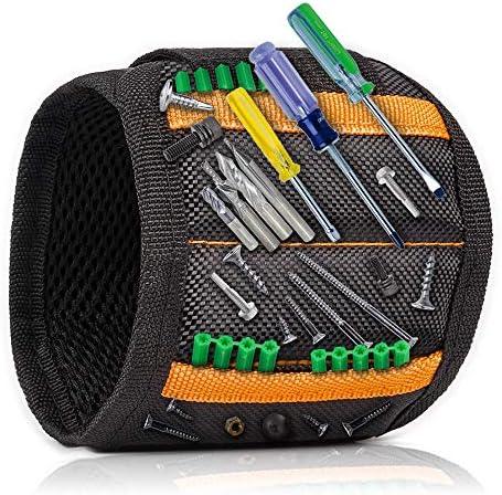 Heimwerker Magnetarmband f/ür Handwerkerr M/änner Ehemann Vater//Vater Freund Frauen Bestes M/änner Geschenke Magnetisches Armband mit 15 Leistungsstarken Magneten