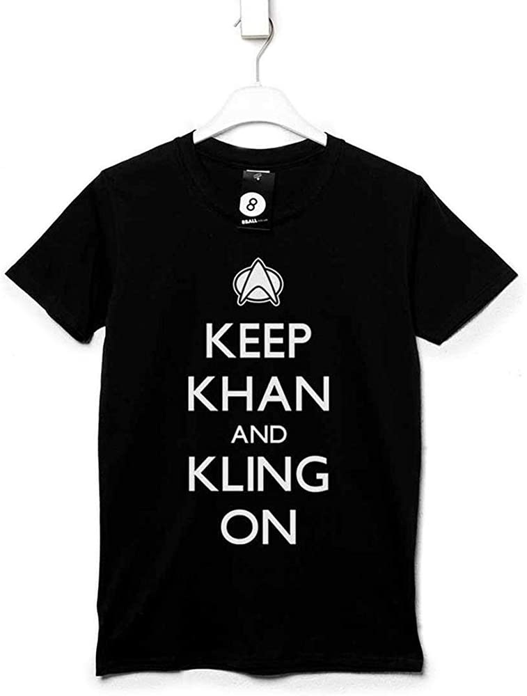 Hombre Star Trek Inspired Camiseta - Keep Khan And Kling On - Black - Small: Amazon.es: Ropa y accesorios