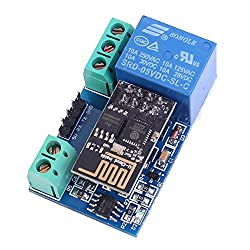 Icstation 5V 1 Channel ESP8266 WiFi Network Relay Module Power Switch Support APP Control
