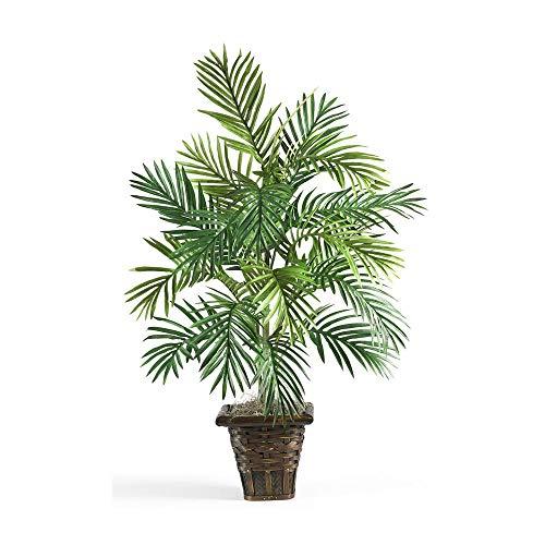 Areca Palm w/Wicker Basket Silk Plant By By Big E Products