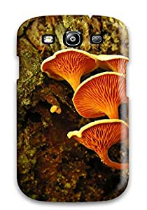 Tpu Case Cover Compatible For Galaxy S3/ Hot Case/ Orange Mushrooms