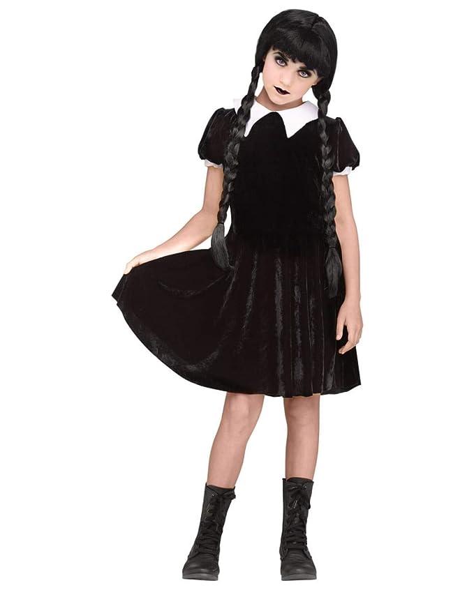 Horror-Shop Disfraz de niña gótica el miércoles M: Amazon.es ...