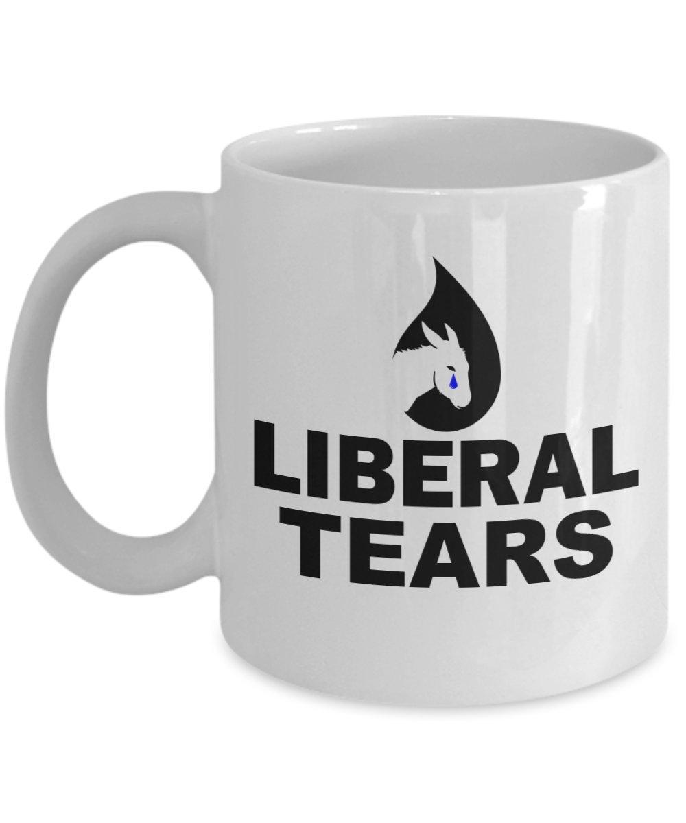 Liberal Tearsコーヒーマグ – Funny Anti DemocratセラミックカップUniqueノベルティRepublican Conservativeドナルドトランプファンギフト 11oz GB-2508920-20-White 11oz ホワイト B07B9RFZV9