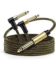 GOSYSONG 1/4 Cable de inserción estéreo TRS 1/4 a Dual 1/4 TS Mono Insert Cable, 6,35 mm TRS macho a 2 6,35 mm TS macho estéreo divisor en Y