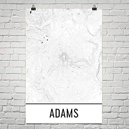 Mt Adams Washington Map.Amazon Com Mount Adams Print Mt Adams Washington Poster Adams