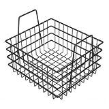 Basket, Black, Plastic, Rectangular, 8'' H