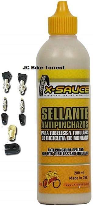 X-Sauce Kit Sellante Anti Pinchazos para Tubeless, Amarillo, 200ml ...