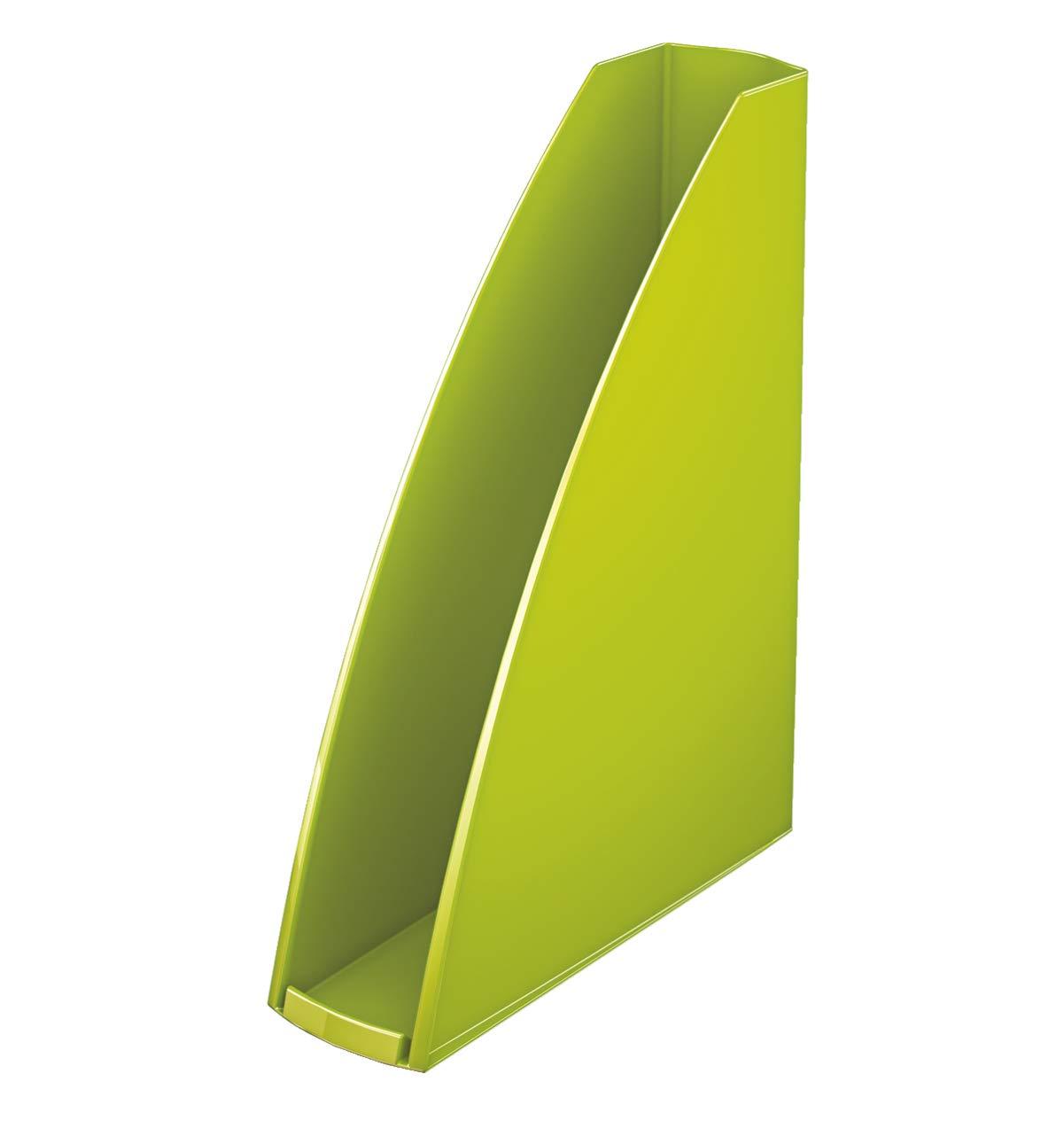 Revistero Verde metalizado 75mm de lomo Leitz WOW 52771064 A4