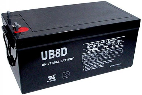 UPG 45964 - UB-8D AGM - AGM Battery - Sealed Lead Acid - 12 Volt - 250 Ah Capacity - L4 Terminal by Universal Power Group