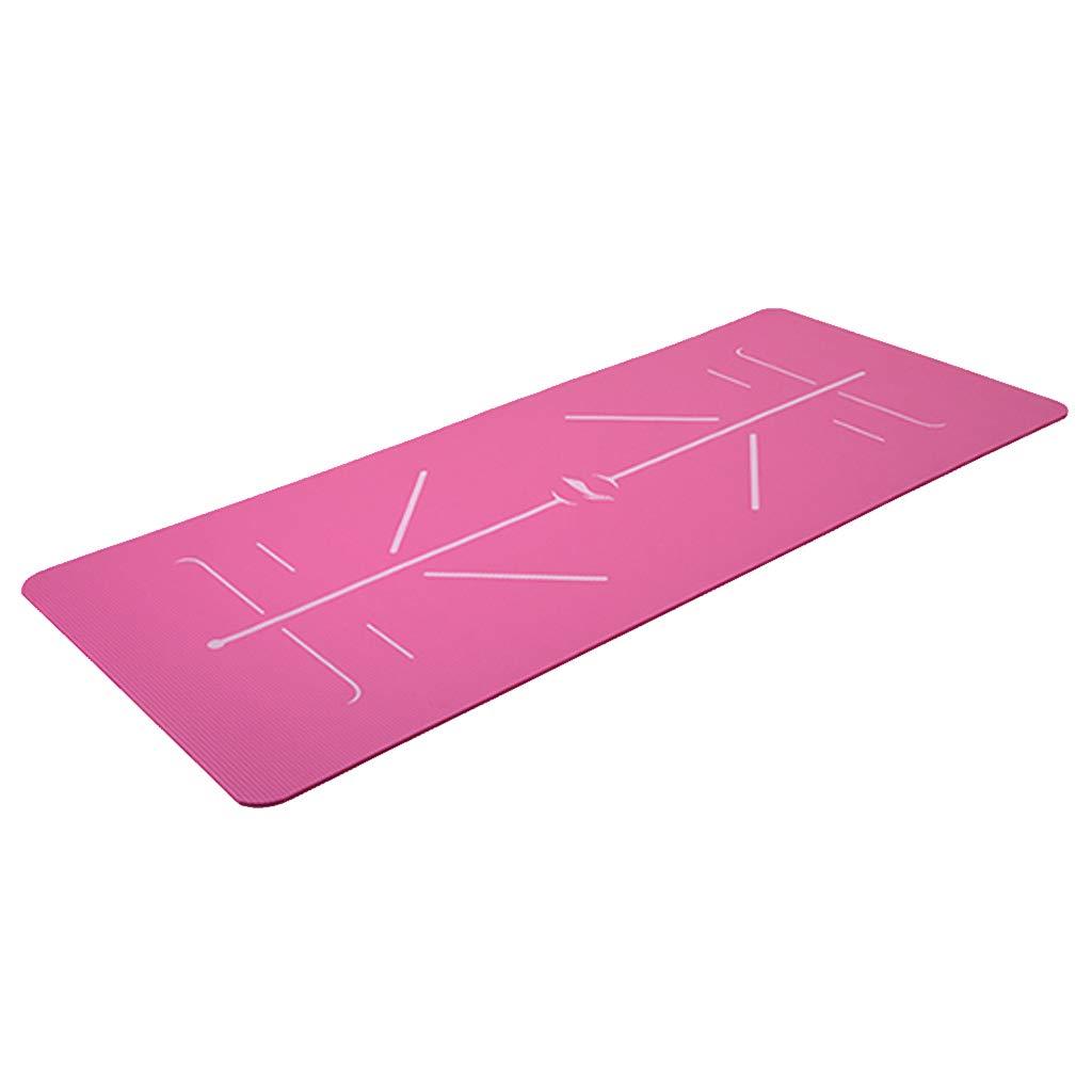 初心者 - 肥厚 - 幅広 - ノンスリップ - 男性と女性のスポーツ - ヨガマット B07J41X6BG L l|Pink Pink L l