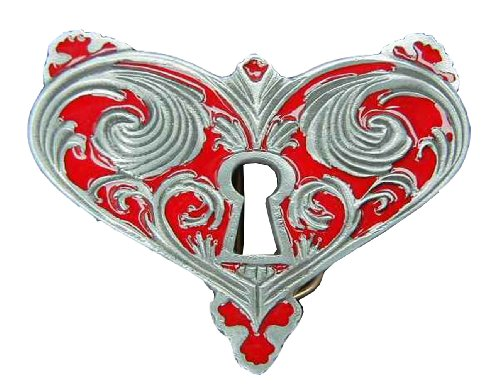 Heart Lock Novelty Belt Buckle (Heart Lock Belt)