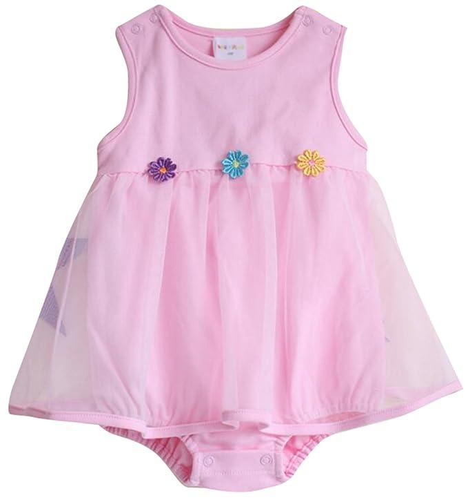 614858b89 October Elf - Vestido - para bebé niña multicolor rosa Small (2-4 Meses)   Amazon.es  Ropa y accesorios
