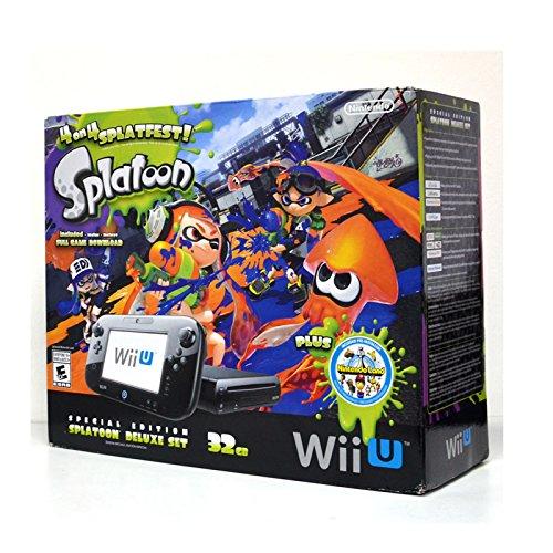 Nintendo Wii U 32GB Console Splatoon Special Edition Bundle - Black by Nintendo (Image #1)