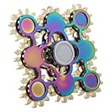 Salemor 9 Bearing Gears Linkage Tri-Spinners Fidgets Toy Rainbow Head Fidgets Spinner for Killing Time ADD, ADHD, Autism Adult Children