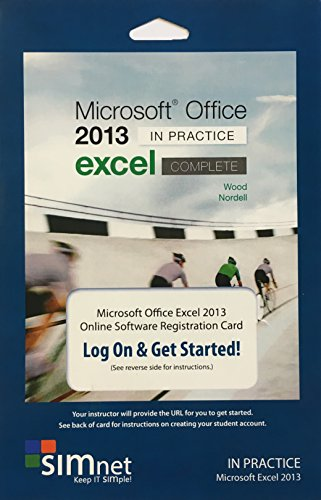 SIMnet for Office 2013, Nordell SIMbook, Single Module Registration Code, Excel -
