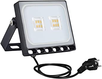 Sararoom 10W Proyector LED exteriores,IP65 Impermeable Floodlight ...