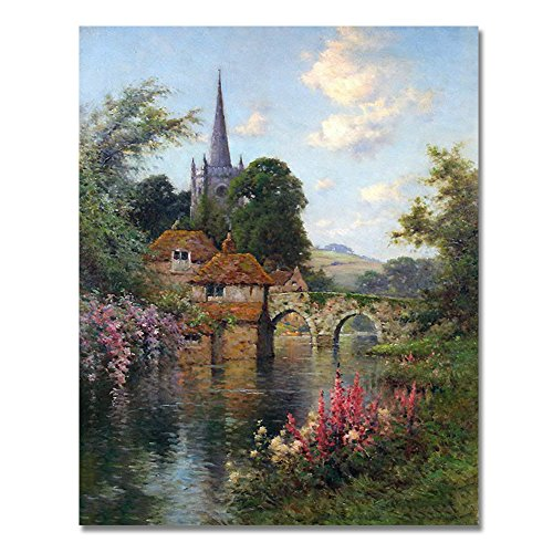 Rihe Diy Oil Painting by Numbers, Paint by Number Kits-Castle-PBN Kit for Adults Girls Kids Christmas 16x20inch (With DIY Frame)
