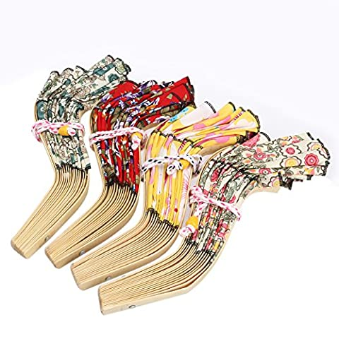 OULII Women 2 in 1 Foldable Chinese Style Bamboo Hat Frame Floral Printed Hand Fan Sunhat (Random Color)