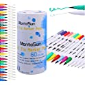 MontoSun Art Markers Dual Tips Color Permanent Markers