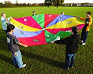 Parachutes with Holes, 12 Handles and 10'