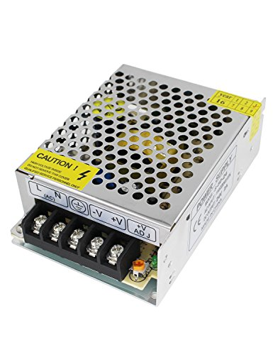 Aiposen 110V/220V AC to DC 24V 2A 48W Switch Power Supply Driver,Power Transformer for CCTV Camera/Security System/LED Strip Light/Radio/Computer Project(24V 2A)