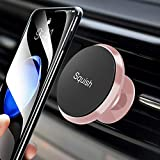 Squish Mount for Pop Sockets Grips Magnetic Car Phone Mount Air Vent Phone Holder for Car(Pink)