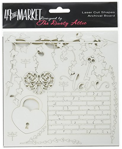 49 and Market Love White Archival Chipboard 6