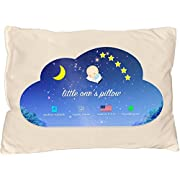Little One's Pillow - Toddler Pillow, Delicate Organic Cotton Shell, HandCrafted in USA - Soft Yet Supportive, Washable and Hypoallergenic, No Pillowcase Needed, 13 X 18