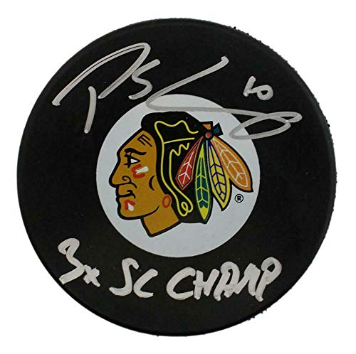 Signed Patrick Sharp Puck - 3x Champ BAS 24354 - Beckett Authentication - Autographed NHL Pucks (Patrick Sharp Puck)