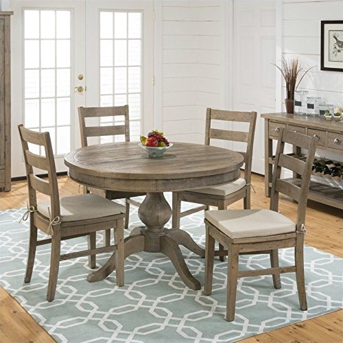 Slater Mill Pine Three Rung Ladderback Dining Chairs – Set of 2 For Sale