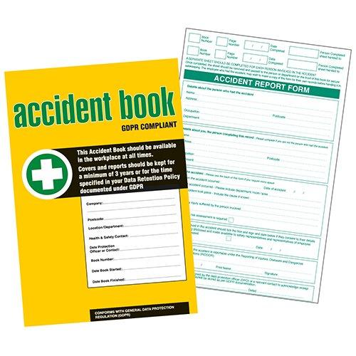 A4 Accident Report Book 2 Part Duplicate Pack of 5 50 Sets per Book