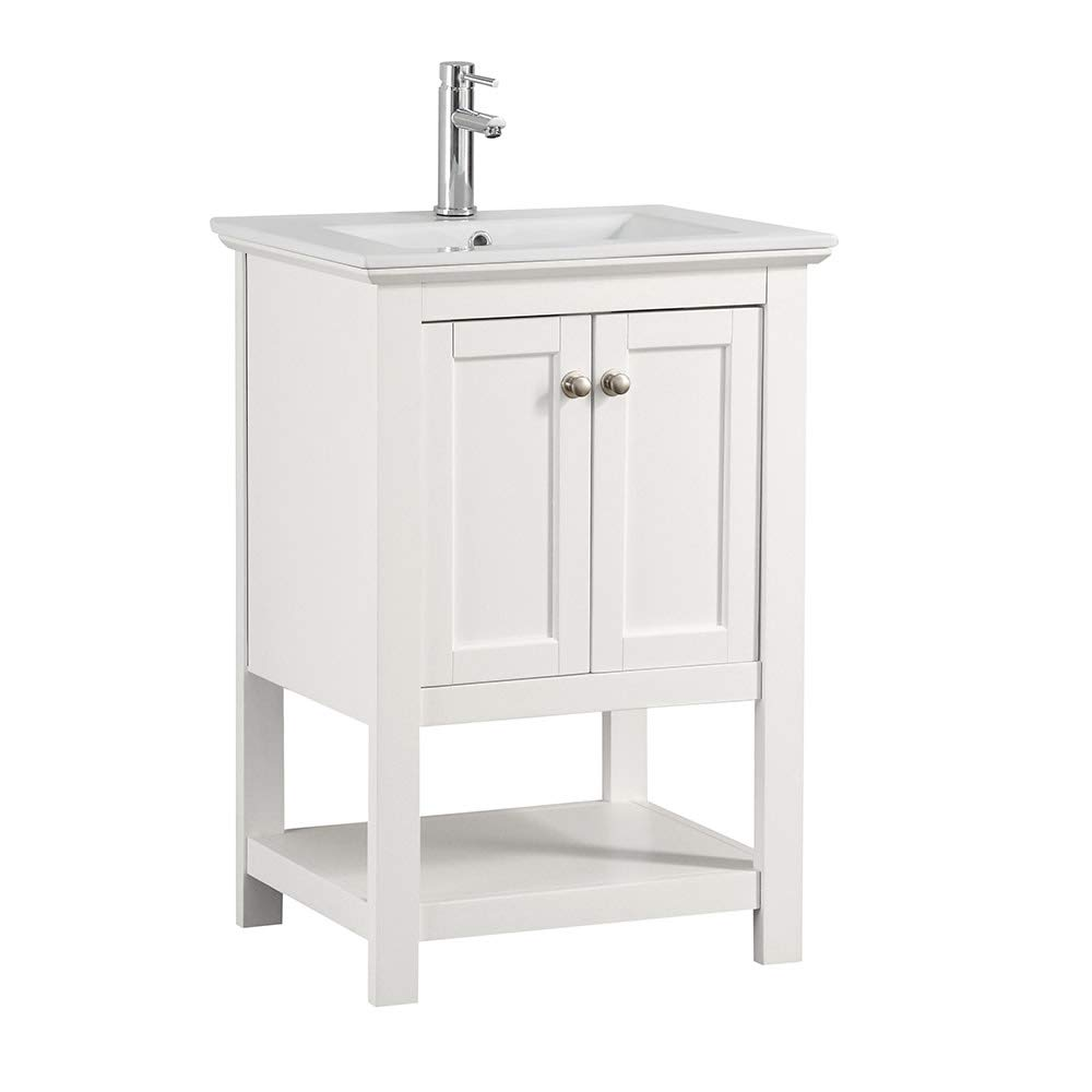 Fresca Manchester 24 White Traditional Bathroom Vanity