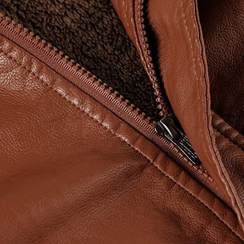 Tattica Invernale Tasca Uomo Antivento Giacca Marrone In Confortevole Di Yunyoud Resistente Autunnale Da Uomo E Pelle Caldo 7AXwqF