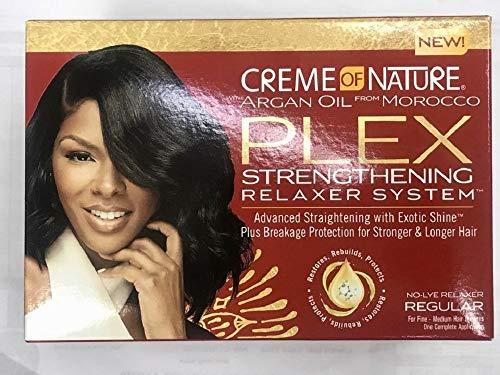 CREME OF NATURE ARGAN OIL PLEX STRENGTHENING RELAXER SYSTEM (Best Creme Of Nature Hair Relaxers)