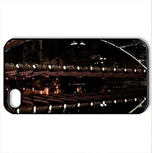 bidding in the 21st century - Case Cover for iPhone 4 and 4s (Bridges Series, Watercolor style, Black) by lolosakes