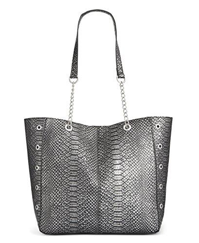 Gray Snake (INC Womens Korra Faux Leather Snake Print Shopper Handbag Gray Medium)