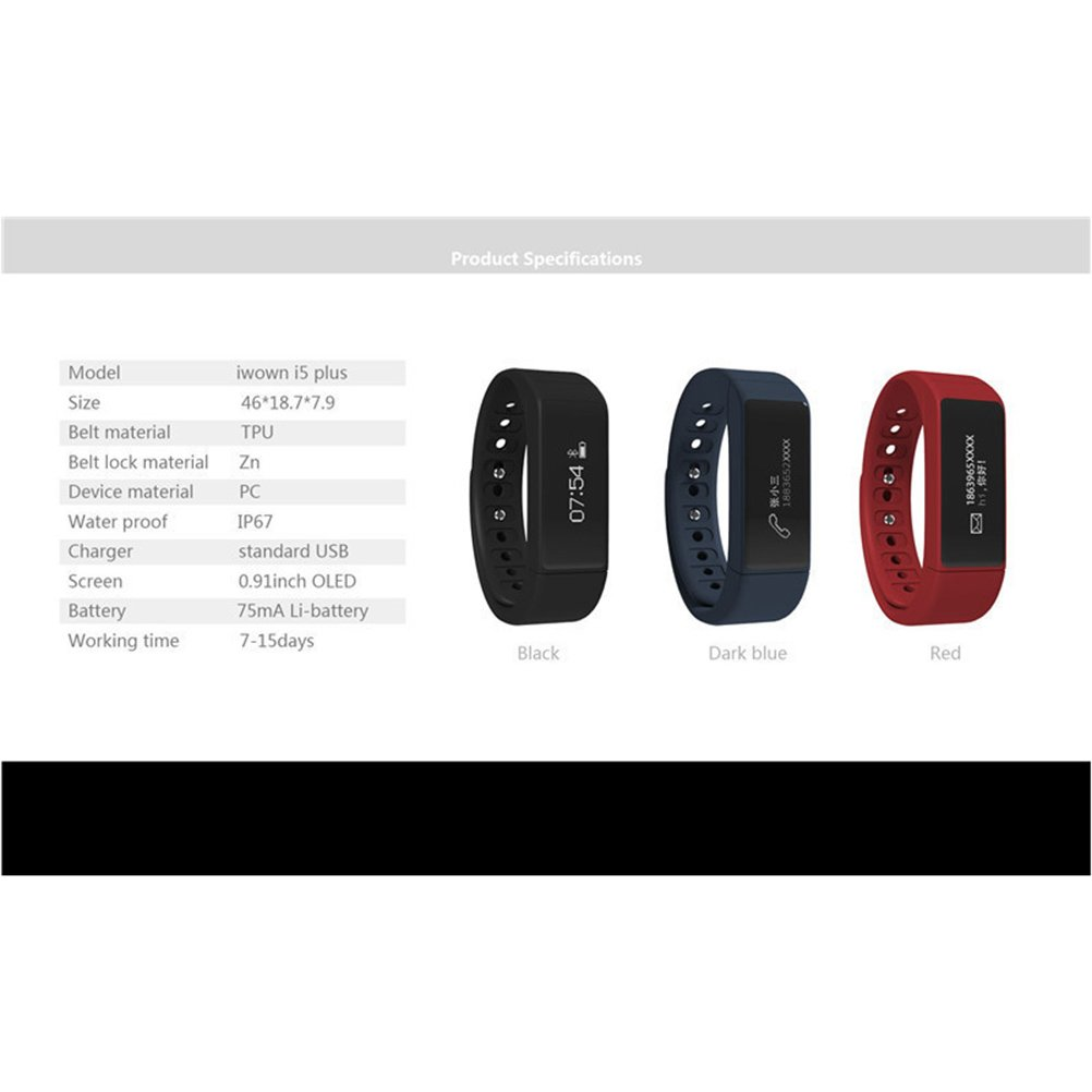I5 Plus Bluetooth Wristband Touch Screen y gesto probada ...